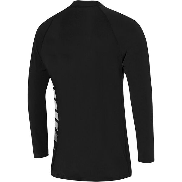 MENS KIWI LONG SLEEVE SLIM FIT SUN TOP, Black, hi-res