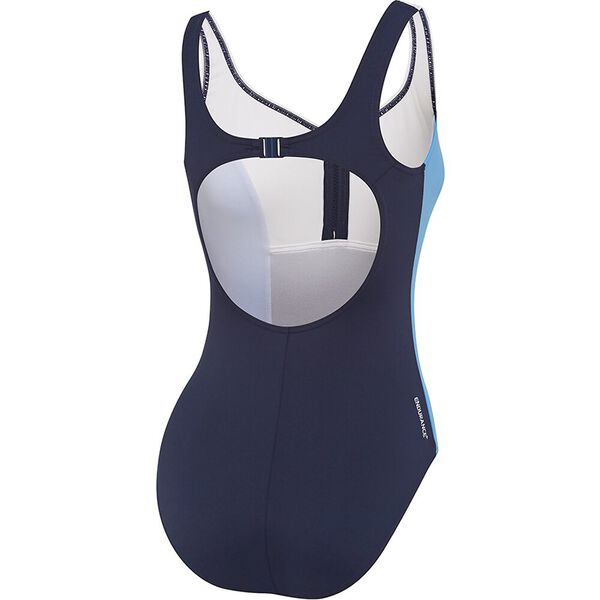 WOMENS SHAPE ONE PIECE, SPEEDO NAVY/BLUEBELL/WHITE, hi-res