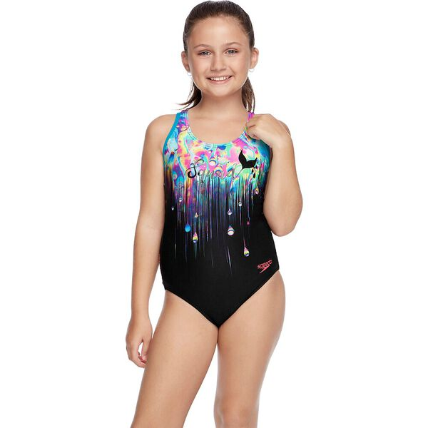 GIRLS POWERSTRIKE NIGHT MUSCLE BACK ONE PIECE, Mer Squad, hi-res