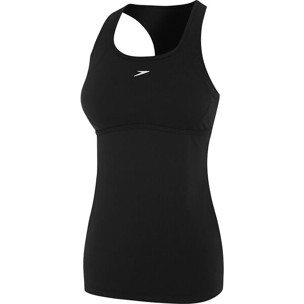 WOMENS D/DD CROSS TRAINER POWER TANK, BLACK, hi-res