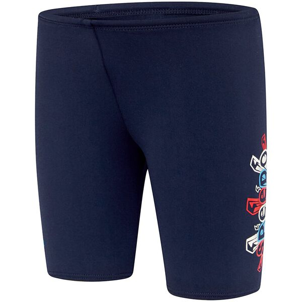TODDLER BOYS ENDURANCE+ LOGO JAMMER, Speedo Navy/Bolt Zap, hi-res