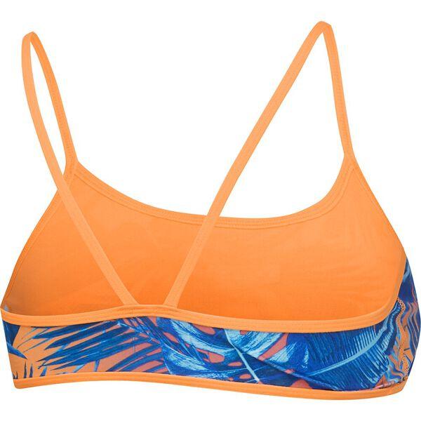 Womens Squad Surf Squad Crop Top, Hot Tropic/Funray, hi-res