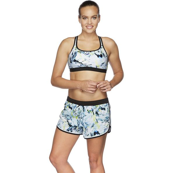 WOMENS CROSS TRAINER FIT TOP, MARBLED/BLACK/WHITE, hi-res