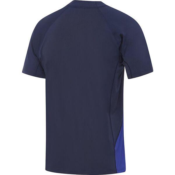 Mens Flow Regular Short Sleeve Rashie, Speedo Navy/Trick, hi-res