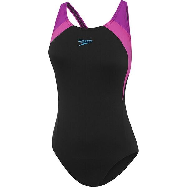 Womens Image Uplift One Piece, Black/Happyness/Deejay, hi-res