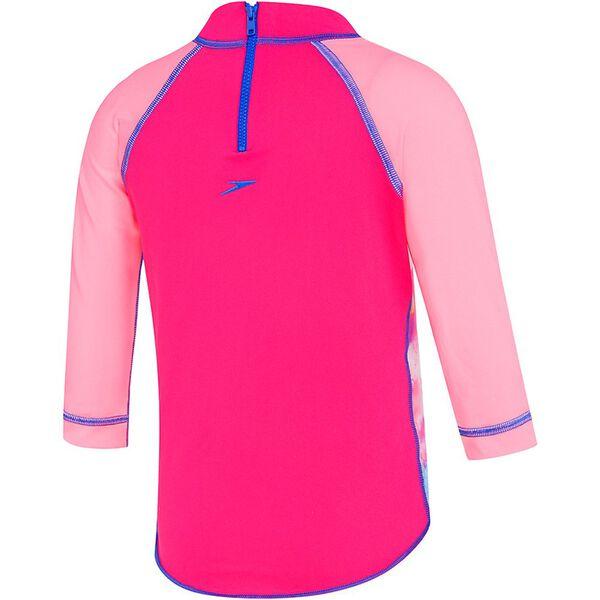 TODDLER GIRLS BALLERINA BUNNY LONG SLEEVE SUN TOP, Ballerina Bunny/Electrick Pink, hi-res