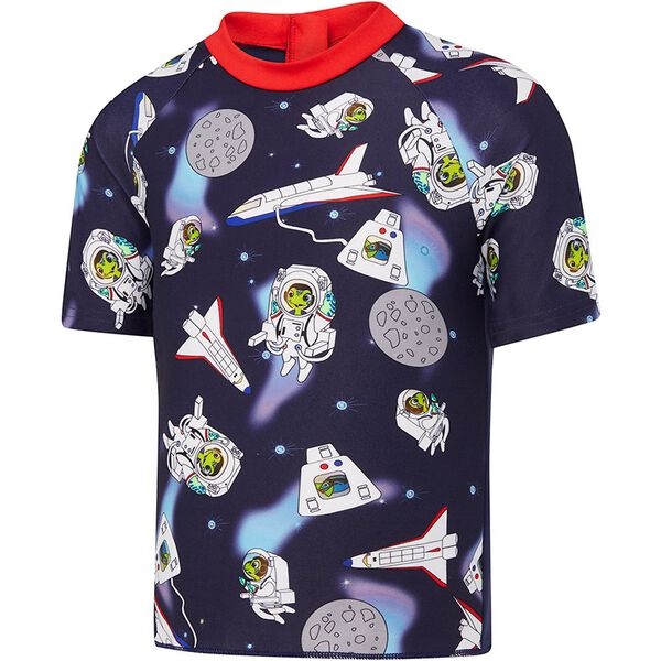 TODDLER BOYS CAMO SHARK SHORT SLEEVE SUN TOP, S TURTLE/S NVY, hi-res