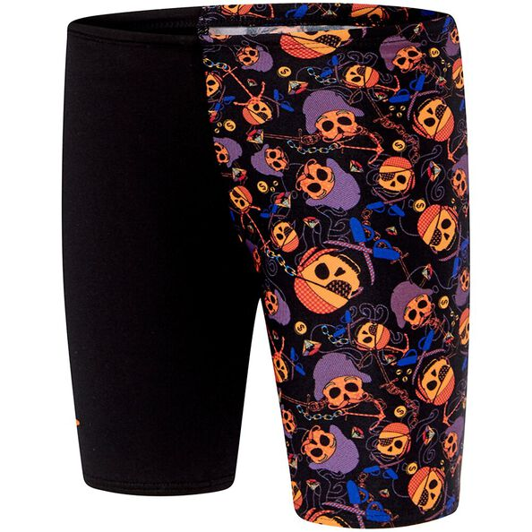 TODDLER BOYS ENDURANCE + LOGO JAMMER, Pirate Skull/Black, hi-res