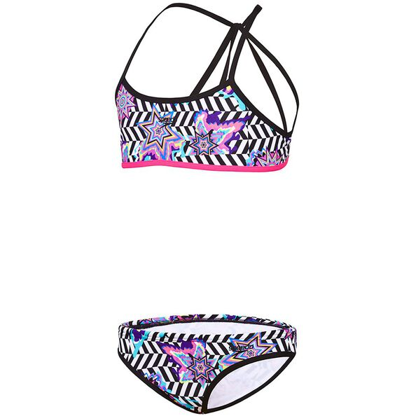 GIRLS OPTICAL STAR STRAP BACK TOP, Optical Star, hi-res