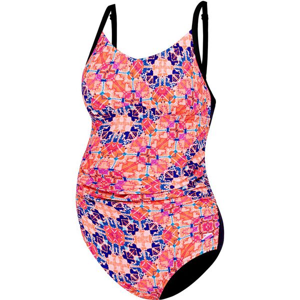 WOMENS JOY ONE PIECE, EUPHORIA/BLACK, hi-res