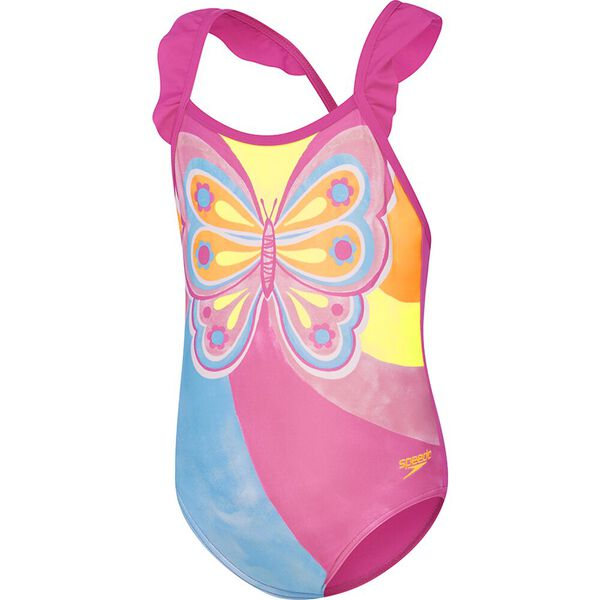 Toddler Girls Frill Crossback One Piece