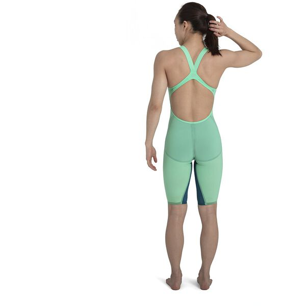 LZR VALOR OPENBACK KNEESKIN, GREEN/BLUE, hi-res