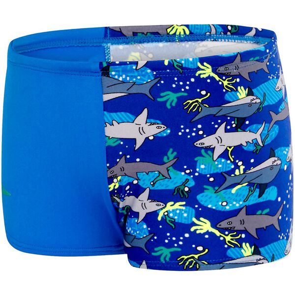 TODDLER BOYS SHARK HERD AQUASHORT, Cadet Blue/Shark Herd, hi-res