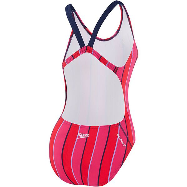 WOMENS LIMITLESS LEADERBACK ONE PIECE, LIM VERT/SP NVY, hi-res