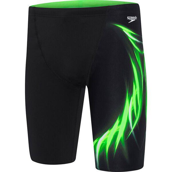 MENS ENERGIZE JAMMER, Black/Energize Green, hi-res
