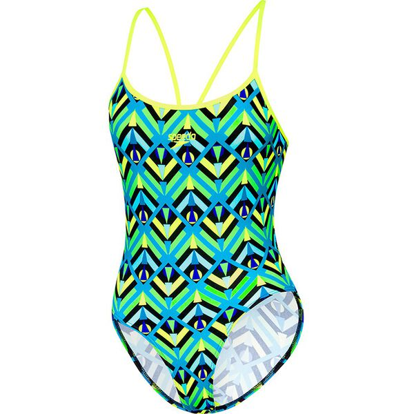 WOMENS SURF HIGH LEG ONE PIECE, SQUAD GEO/NEON, hi-res