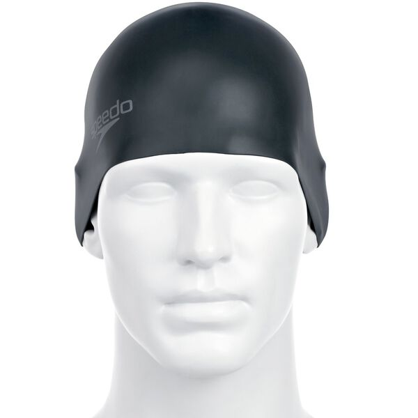 PLAIN MOULDED SILICONE CAP, BLACK, hi-res