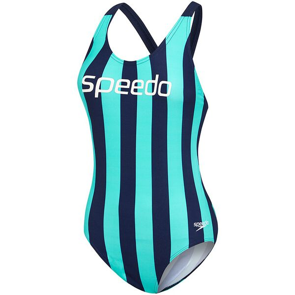WOMENS LIMITLESS LEADERBACK ONE PIECE, LIMITLESS INCA/SPEEDO NAVY, hi-res