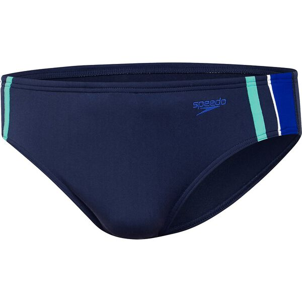 MENS MACCA BRIEF, Speedo Navy/Speed/White /Fresh Mint, hi-res