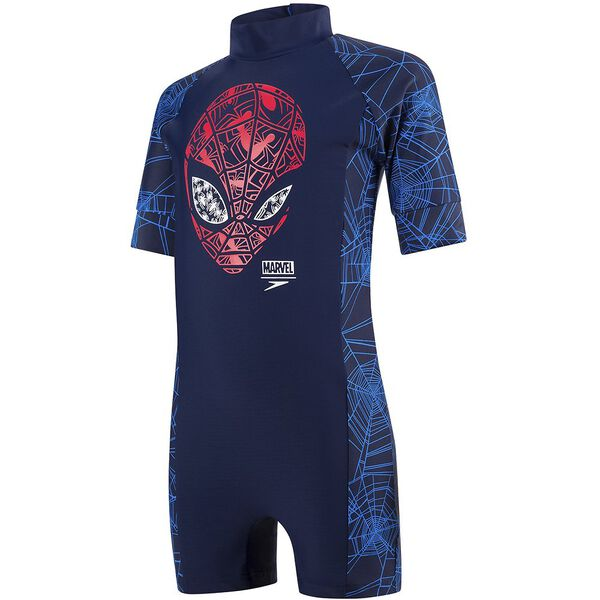 TODDLER BOYS SPIDERMAN ALL IN 1, NAVY/LAVA RED, hi-res
