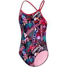 GIRLS LIGHT BOLT OPEN X BACK ONE PIECE