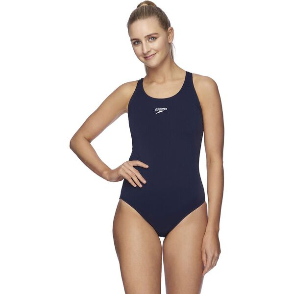 WOMENS END+ LEADERBACK ONE PIECE, SPEEDO NVY, hi-res
