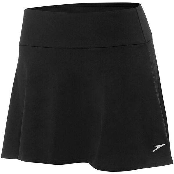 WOMENS SWIM SKIRT, Black, hi-res