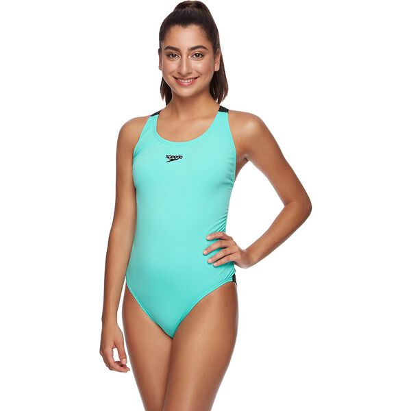 WOMENS ENDURANCE+ LEADERBACK ONE PIECE, FRESH MINT, hi-res