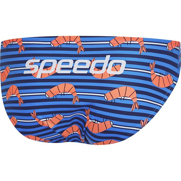 Mens Escape 5cm Brief, BBQ Prawn Stripe, hi-res