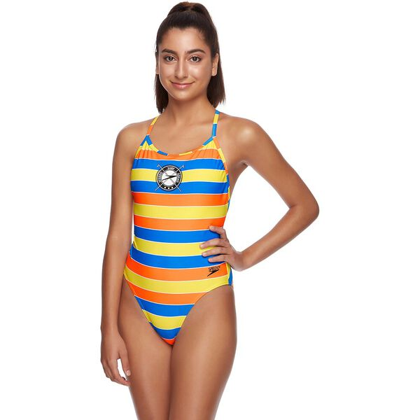 WOMENS 80S TANK ONE PIECE, ARCHIVE STRIPE, hi-res