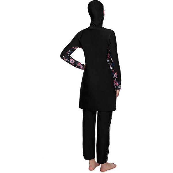 Womens Swim Dress, BLACK/BLISS, hi-res