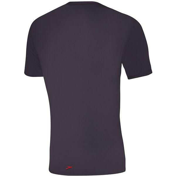 MENS OCEAN TEE SHORT SLEEVE RASHIE, Black/Fire, hi-res
