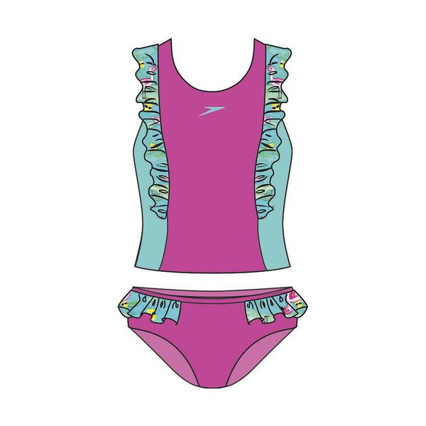 TODDLER GIRLS FRILLY TANKINI SET