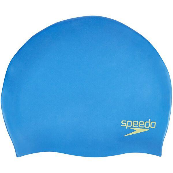 JUNIOR MOULDED SILICONE CAP, BONDI BLUE, hi-res