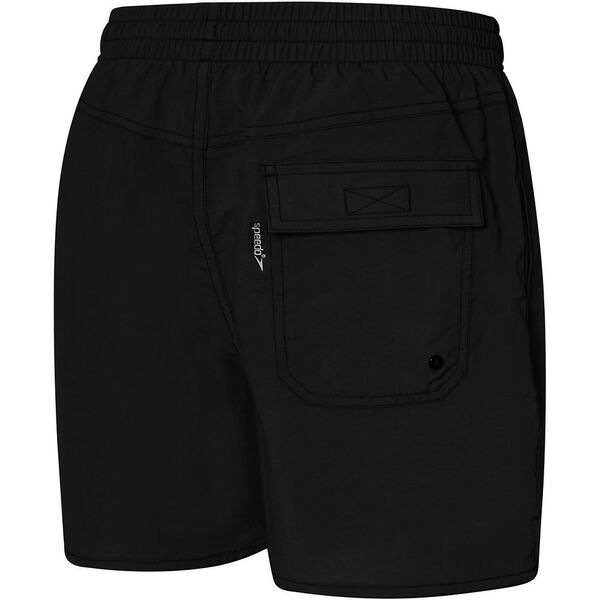BOYS SOLID LEISURE SHORT, Black, hi-res