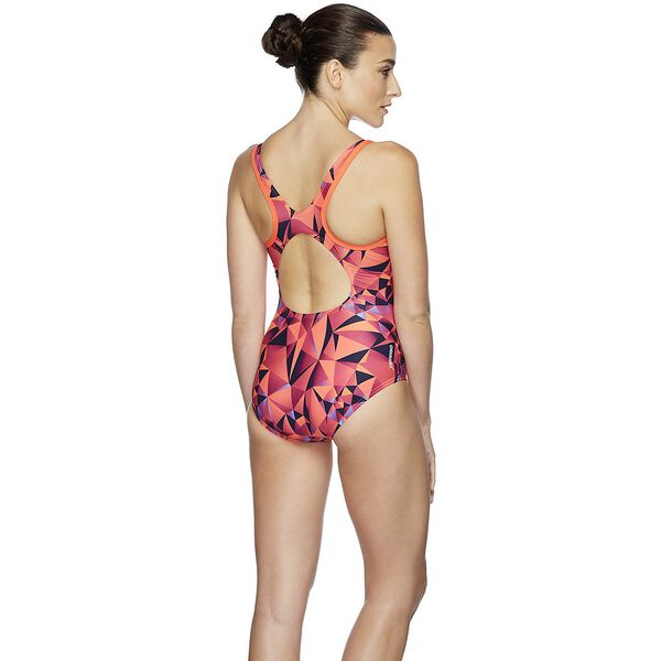 WOMENS D/DD MUSCLEBACK ONE PIECE, ORIGAMI/SIREN RD, hi-res