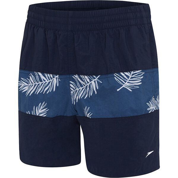 MENS CLASSIC PANEL WATERSHORT, Speedo Navy/Raffia Mariner, hi-res