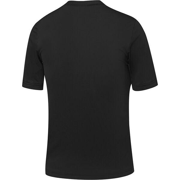 Boys Salty Short Sleeve Rashie, Teal/Black, hi-res