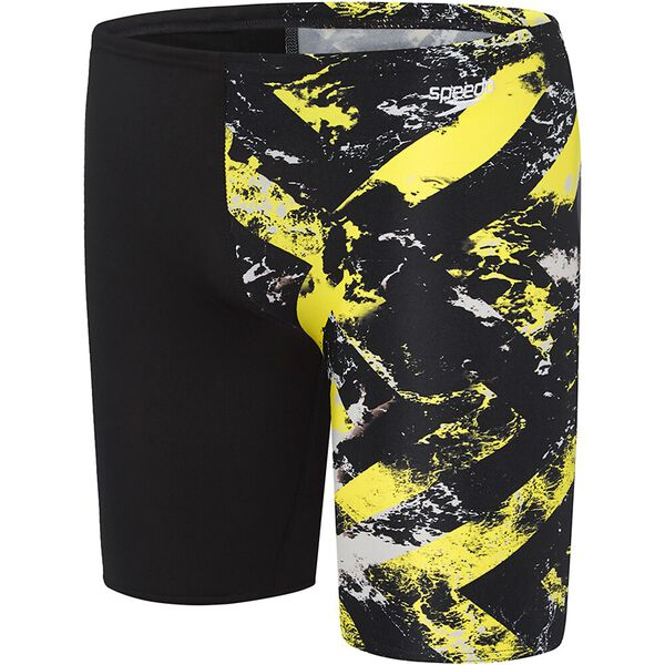BOYS SCHOOL COLOURS JAMMER, Black/Marigold Wave, hi-res