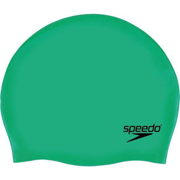 PLAIN MOULDED SILICONE CAP, GREEN, hi-res