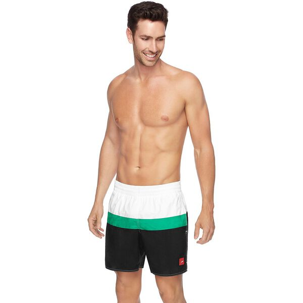 MENS SPLIT LOGO WATERSHORT, Black/Amazon/White, hi-res