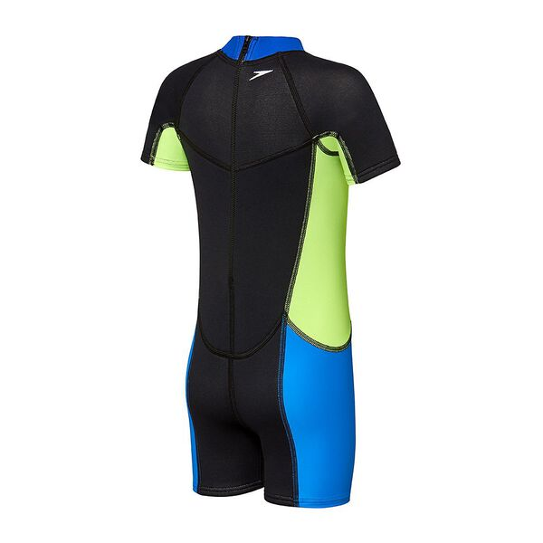 TODDLER GIRLS SPEEDO NEOPRENE SUIT, Black/Speed/Brasil Green/Azure, hi-res