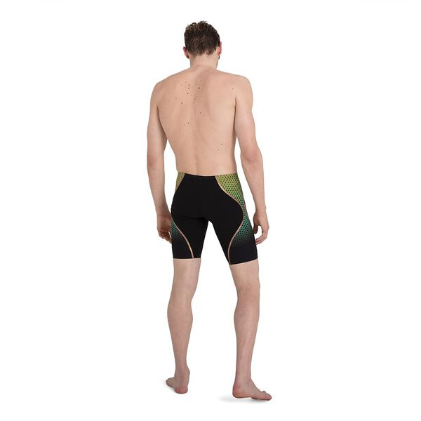 Mens Fastskin LZR Pure Intent High Waist Jammer, Black/Fluo Yellow/Jade/Rose Gold, hi-res