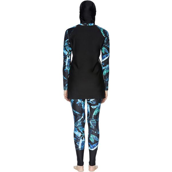 WOMENS SWIM TUNIC, BLACK/WINDS/WHITE, hi-res