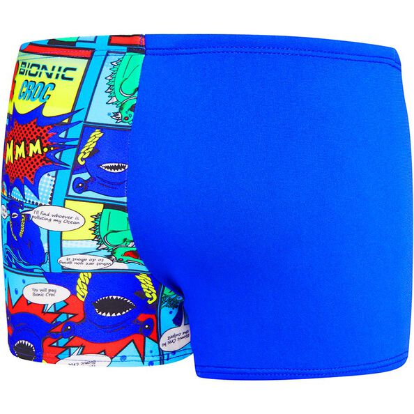 TODDLER BOYS OCTO FRIENDS AQUASHORT, Beautiful Blue/Speedo Comic, hi-res