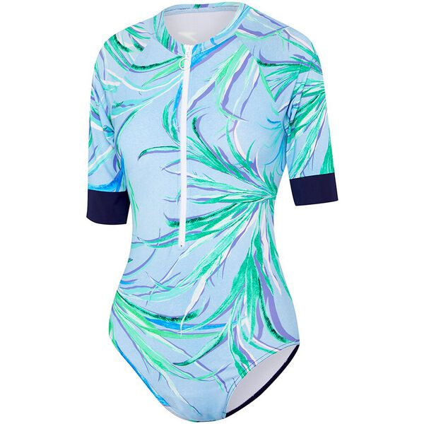 WOMENS SPEEDO ECO FABRIC SHORT SLEEVE PADDLE SUIT, AGILE, hi-res