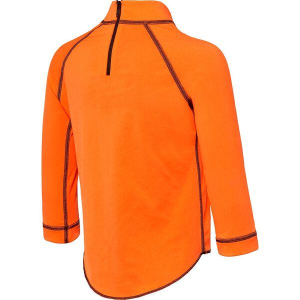 Toddler Boys Logo Long Sleeve Suntop, Fluro Orange, hi-res
