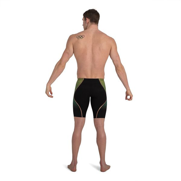 Mens Fastskin LZR Pure Intent Jammer, Black/Fluo Yellow/Jade/Rose Gold, hi-res