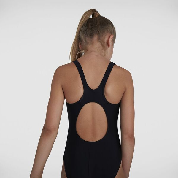 Girls Plastisol Placement Muscleback, Black/Blue Flame/Light Adriatic, hi-res