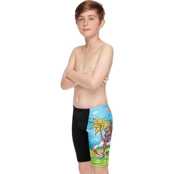 Boys Surf Geetar Jammer, Black/Surf Geetar, hi-res
